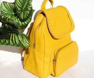 amarillo, mochila, and love image