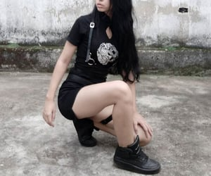 goth, site model, and dark aesthetic image