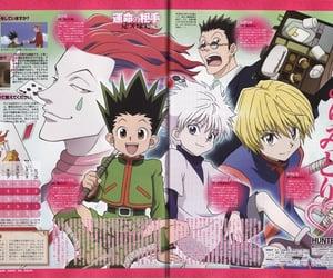 anime, hxh, and magazine image