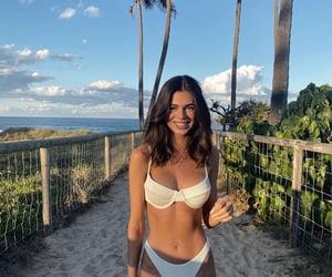 girl, bikini, and beach image