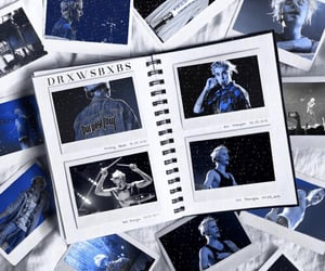 concert, album, and blue image