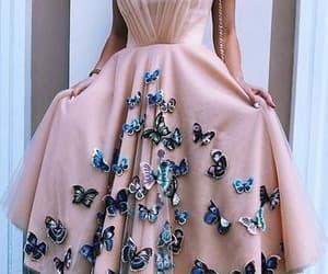 pink prom dress, robe de soirée, and vestido de graduación image