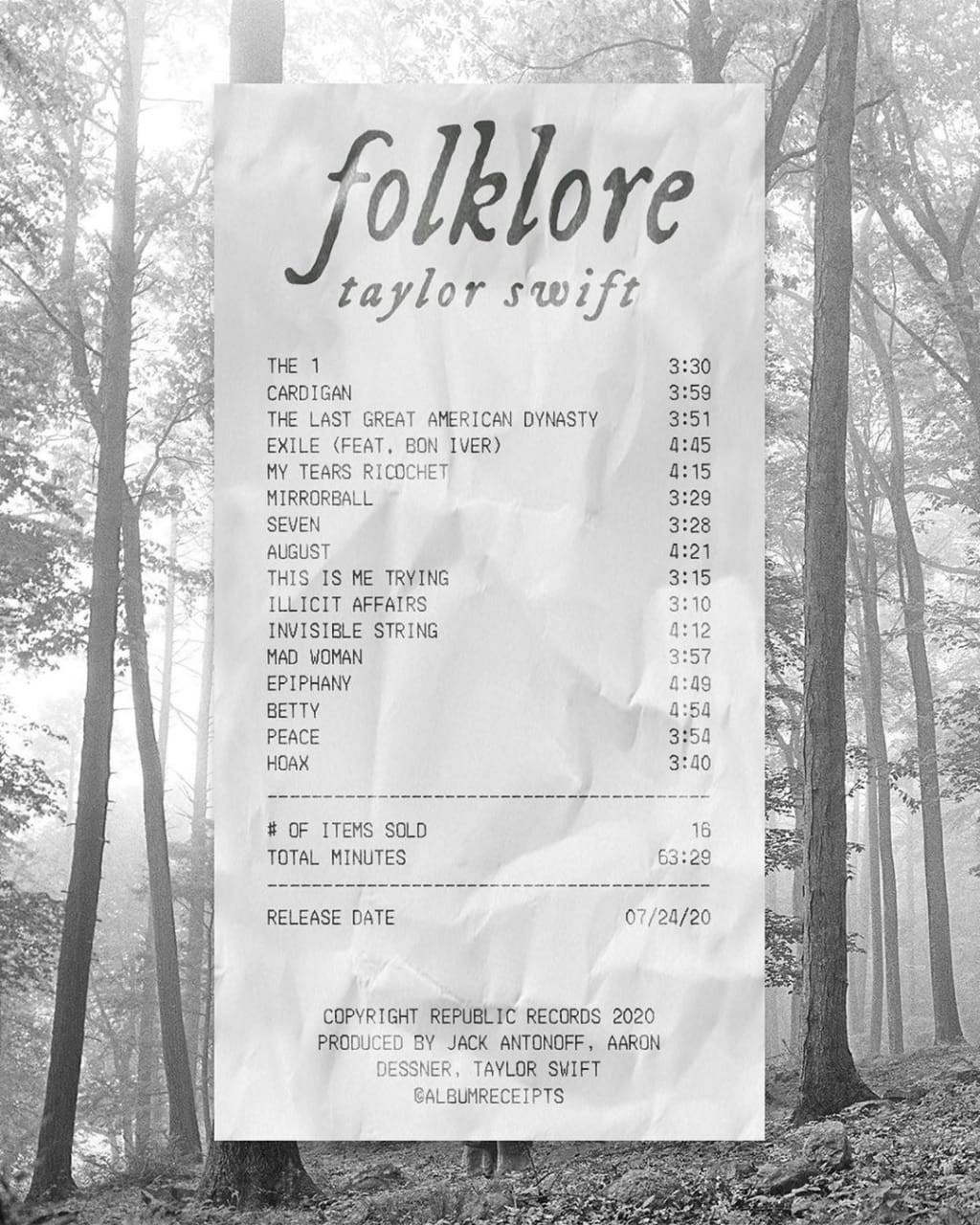 Taylor Swift, folklore, and August image