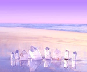 alternative, beach, and crystals image