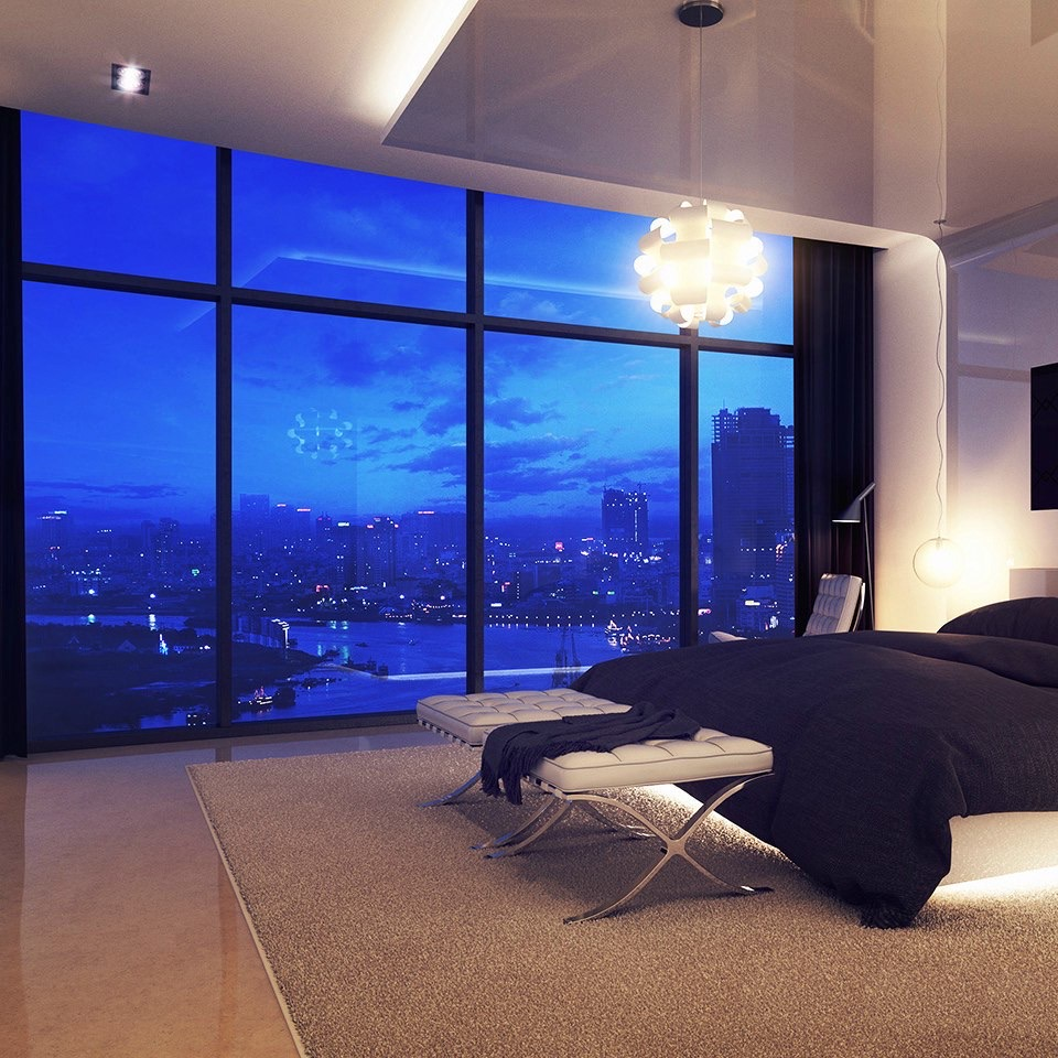 bedroom, room, and night image