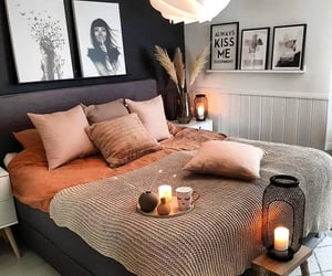 home, candle, and lights image