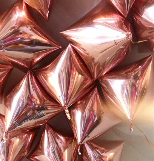 rose gold, aesthetic, and balloons image