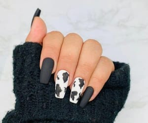 nails, fashion, and black and white image