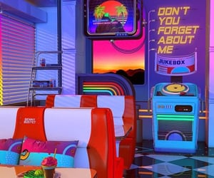 retro, aesthetic, and neon image