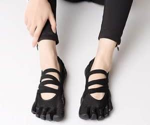 running shoes, five finger shoes, and five fingers image