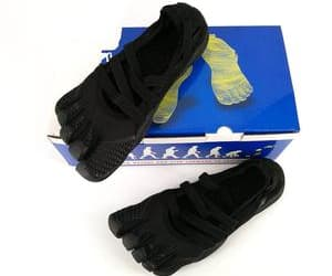running shoes, five finger shoes, and toe shoes image