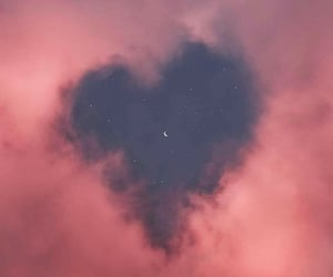 clouds, sky, and heart image