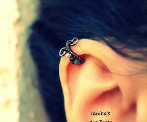 earrings, etsy, and ear cuff image