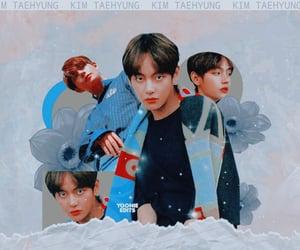 edit, v, and kim taehyung image