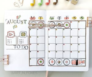 August, pens, and planner image