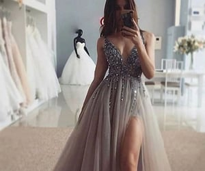 beauty, bridal, and evening dresses image