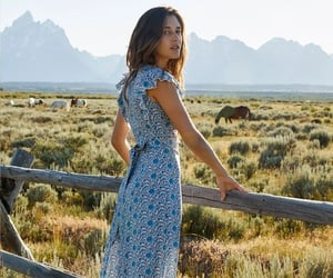 floral dress, girls in nature, and femmebeautysensual image