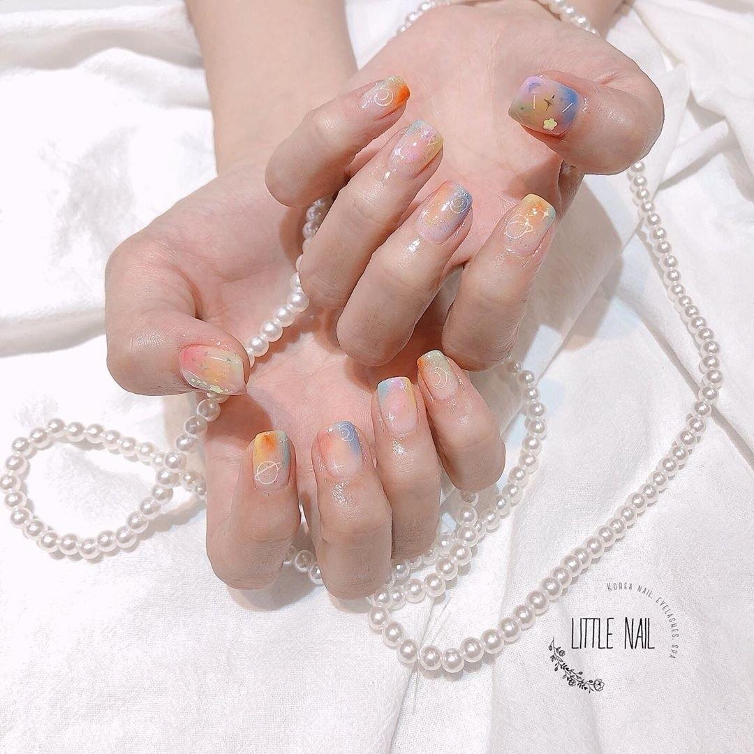 nail, nail art, and korean style image