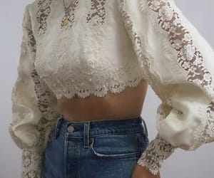 Vintage Ivory Lace Bishop Sleeve Blouse | Lady L. Vintage Co.