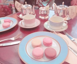 afternoon, tea time, and ‎macarons image