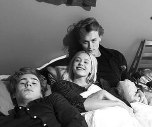 black and white, skam, and series image
