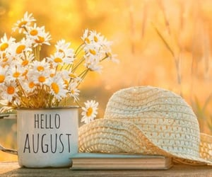 August, we heart it, and flowers image