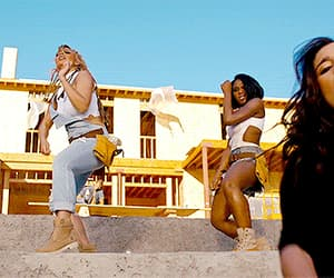 gif, work from home, and fifth harmony image