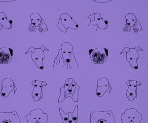 cachorro, roxo, and plano image