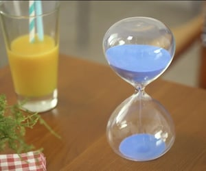 blue, pastel, and hour glass image