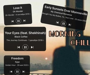 morning, music, and songs image