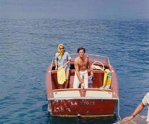 Alain Delon, fashion, and sea image
