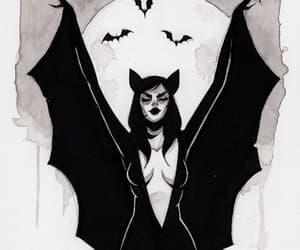 Halloween, bats, and vampire image