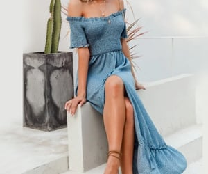blue dress, summer outfits, and fashion image
