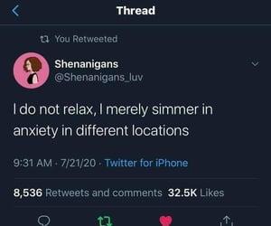 anxiety, haha, and funny memes image