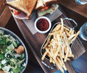 baguette, cafe, and food image