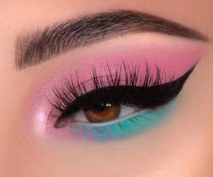 makeup, pink, and blue image