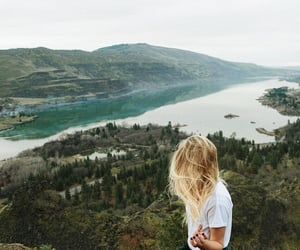 nature, girl, and travel image