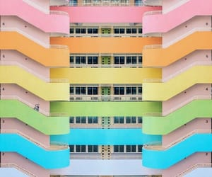 rainbow, balcony, and image image