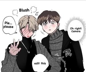 fanart, kpop, and jk image