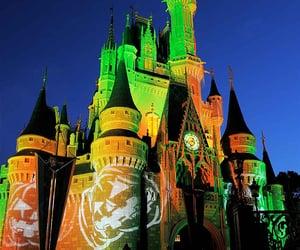 castle, disney, and Halloween image
