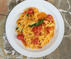 pasta, vegetarian, and italian food image
