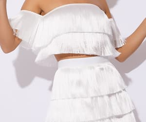 fashion, white, and crop top image
