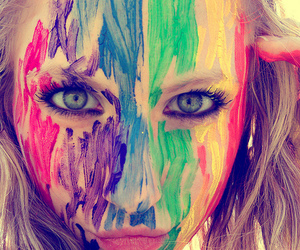 girl, eyes, and colors image