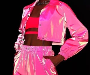 fashion, neon, and pink image