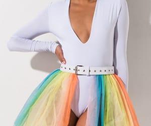 fashion, rainbow, and skirt image