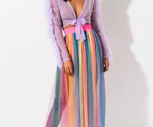 fashion, purple, and rainbow image