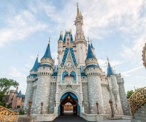 castle, disney, and cinderella image
