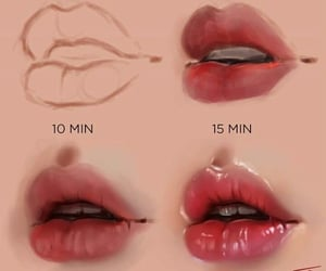 art, lips, and reference image