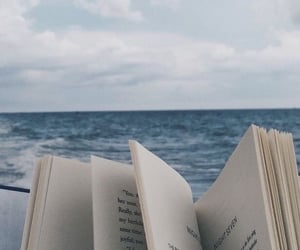 book, blue, and sea image