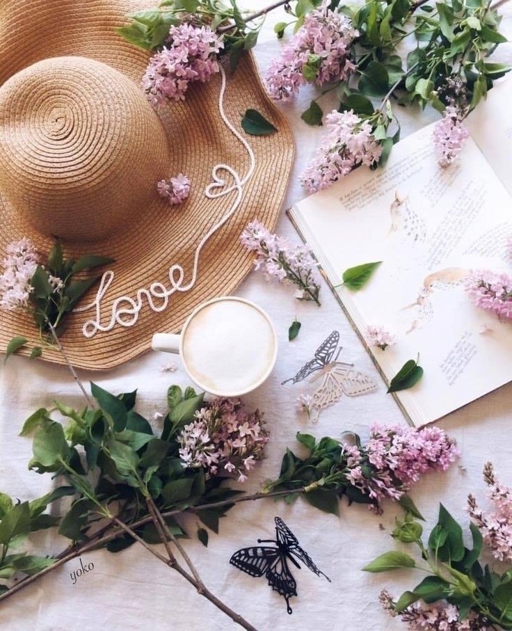 coffee, flowers, and stylish image